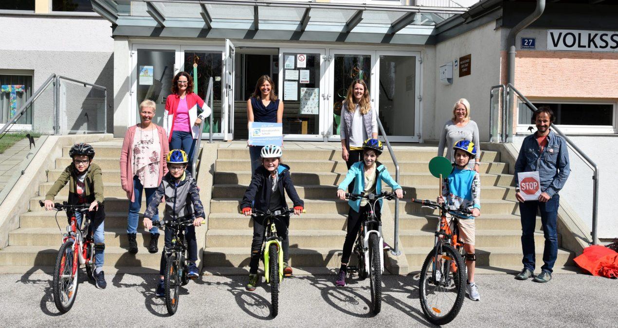 Fahrradprüfung in der Volksschule Pottschach