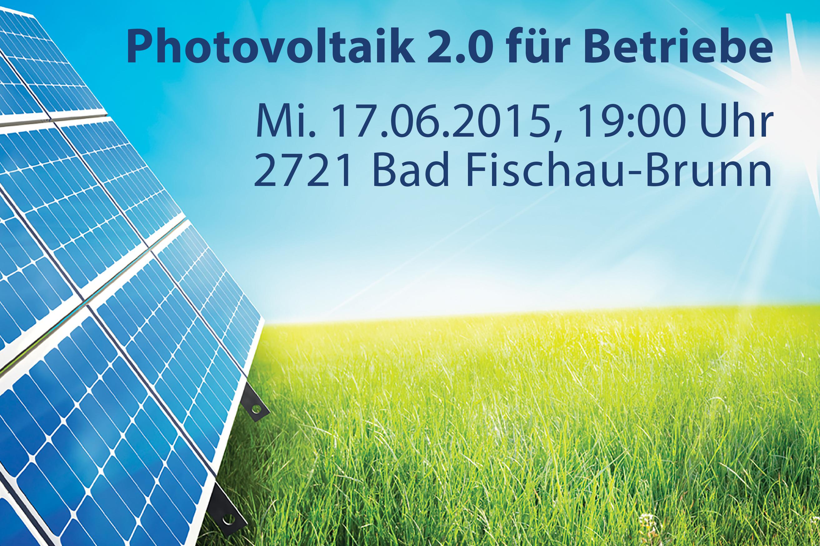 PV 2.0 für Betriebe in Bad Fischau-Brunn