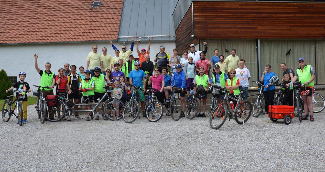 Viele Pedalritter beim Radwandertag