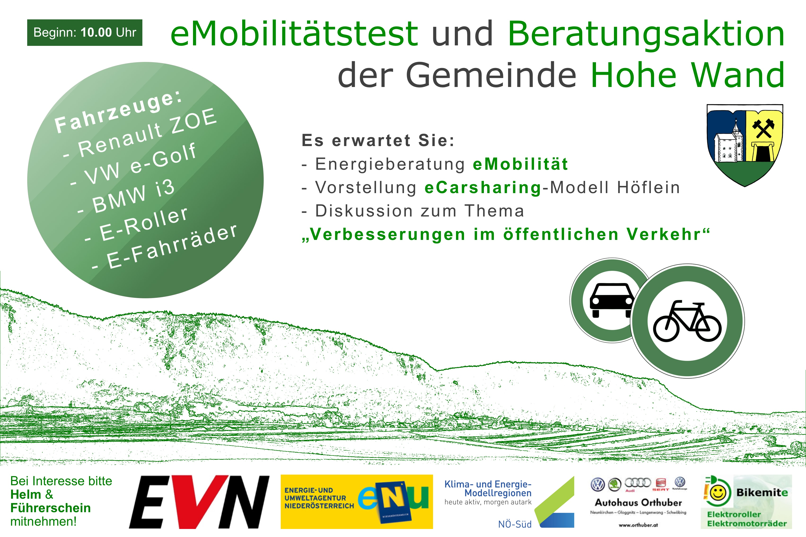 e-mobile Testaktion, Hohe Wand