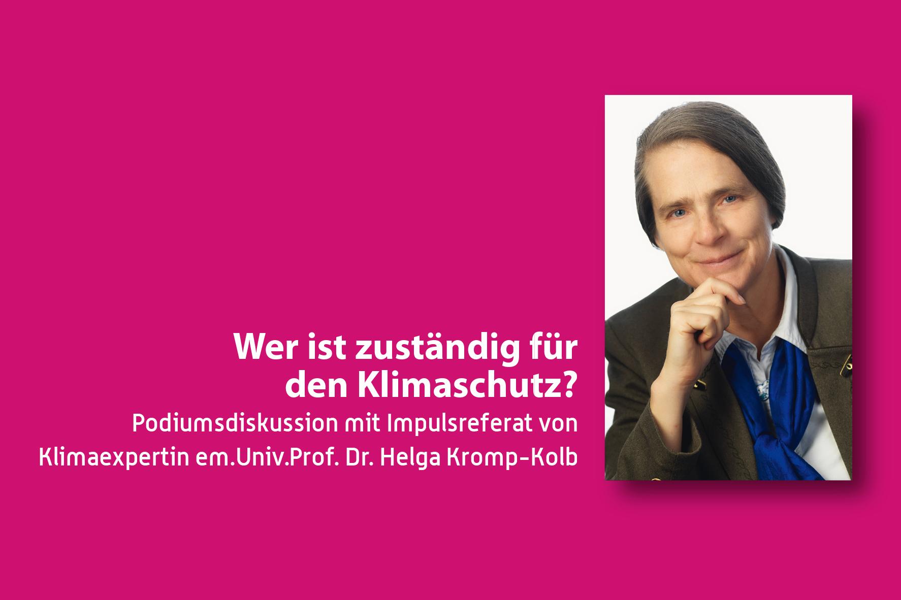Podiumsdiskussion mit Helga Kromp-Kolb