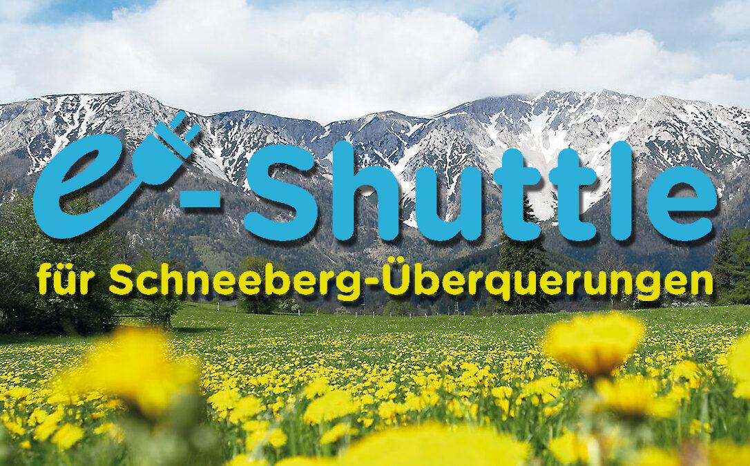 E-Shuttle für Schneeberg-Überquerungen