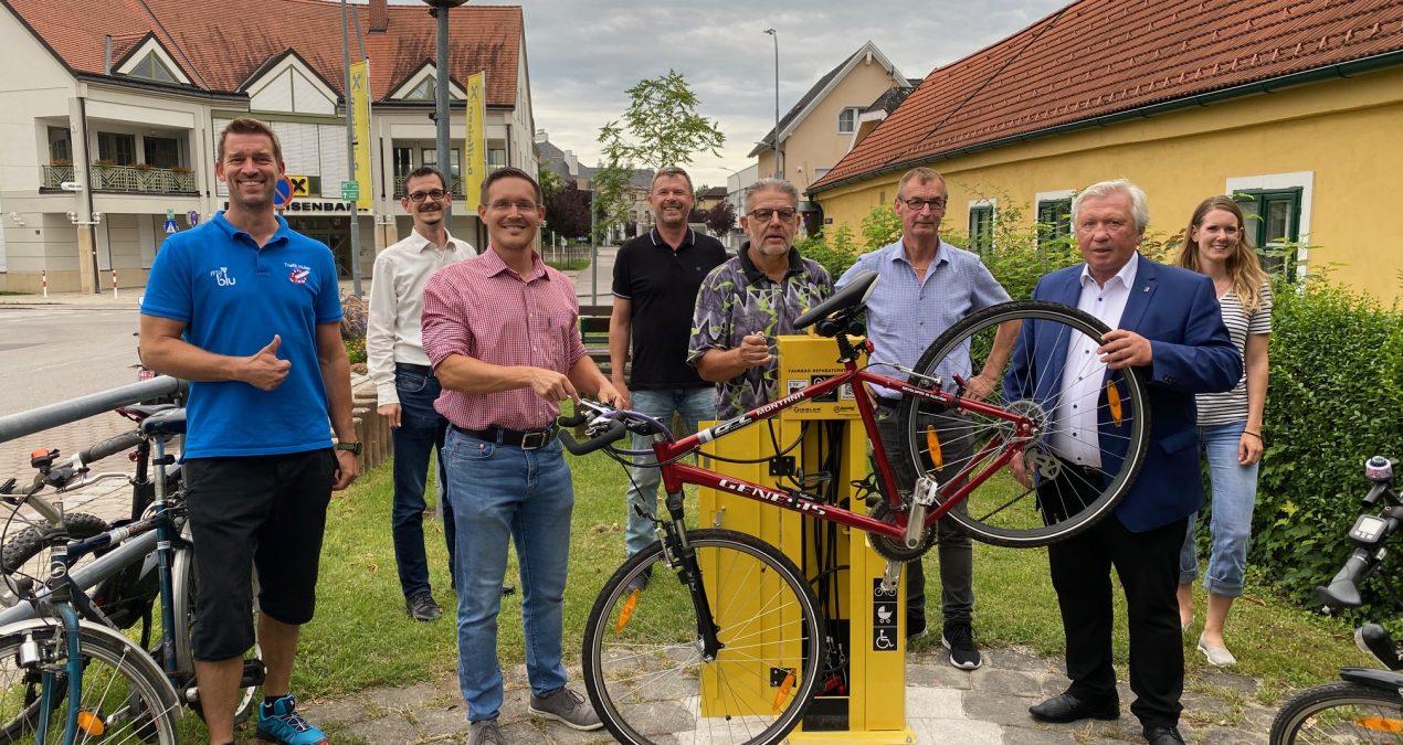 Neue Radservicestation für Neunkirchen